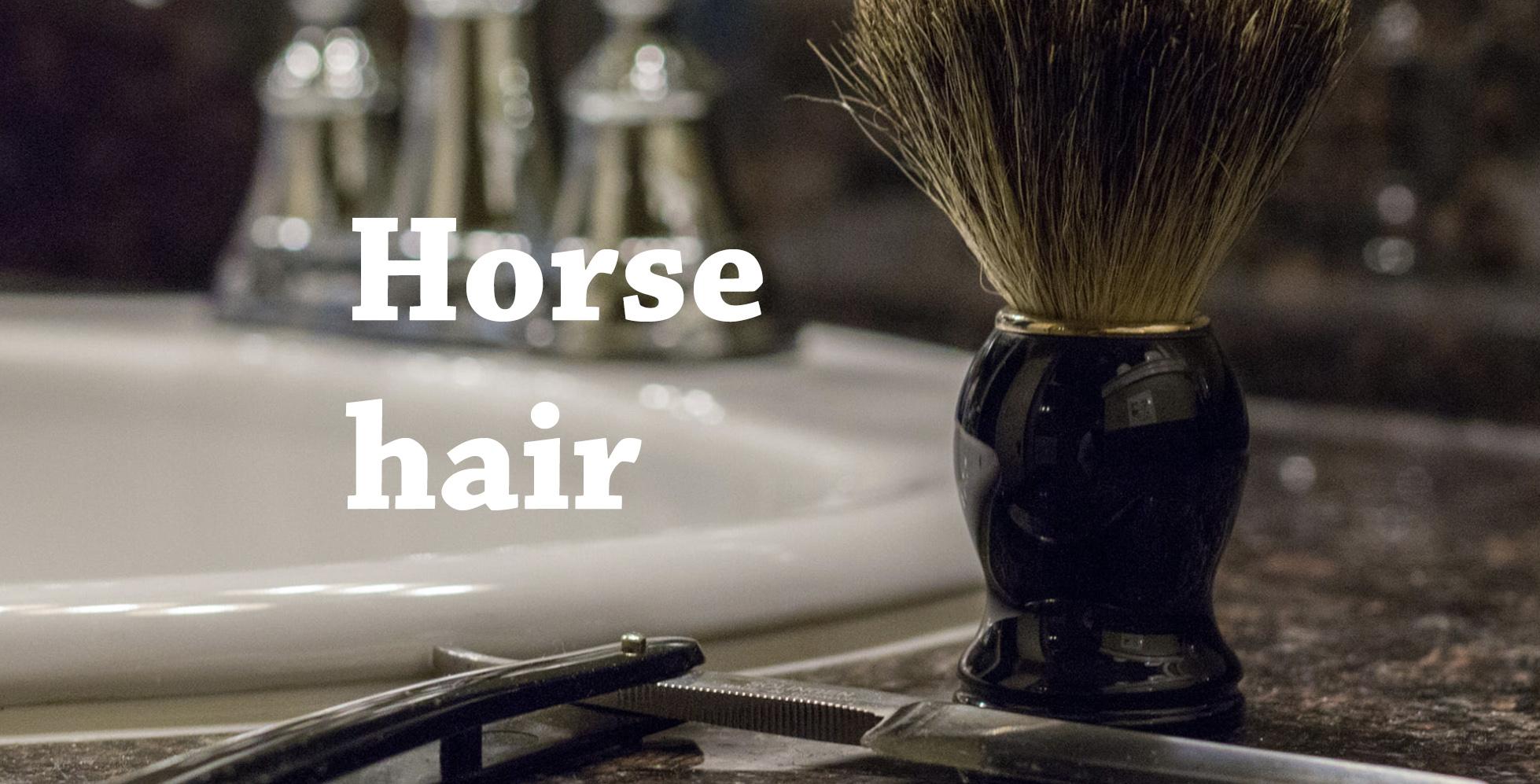 horse shaving brush brume